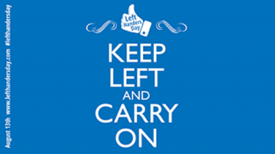 Keep left and carry on, in the style of British WWII propaganda posters