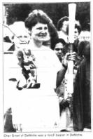 Char Groet of DeMotte was a torch bearer in DeMotte.