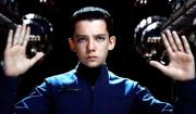 Asa Butterfield controls virtual ships in the movie Ender's Game.