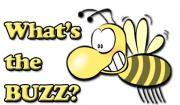 Cartoon bee asks What's the Buzz?