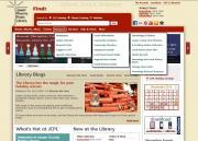 Screenshot of the new JCPL website
