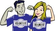 volunteers wearing shirts