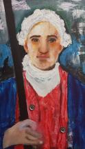 Painting of a revolutionary war era soldier