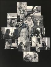 Photo collage of snapshots of the artist's mother, Doris Myers