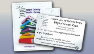 library card and digital access card