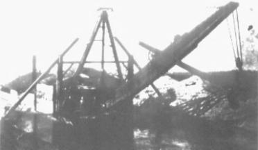 Photo of a river dredge.