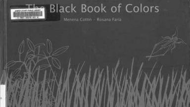 book cover featuring gray grass and insects on a black background