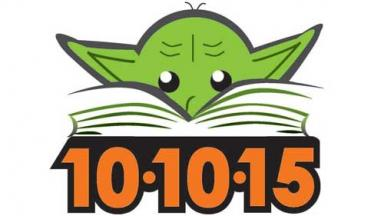 image of yoda, with a book and the date 10-10-15