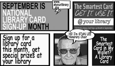 Cartoon panel featuring Stan Lee